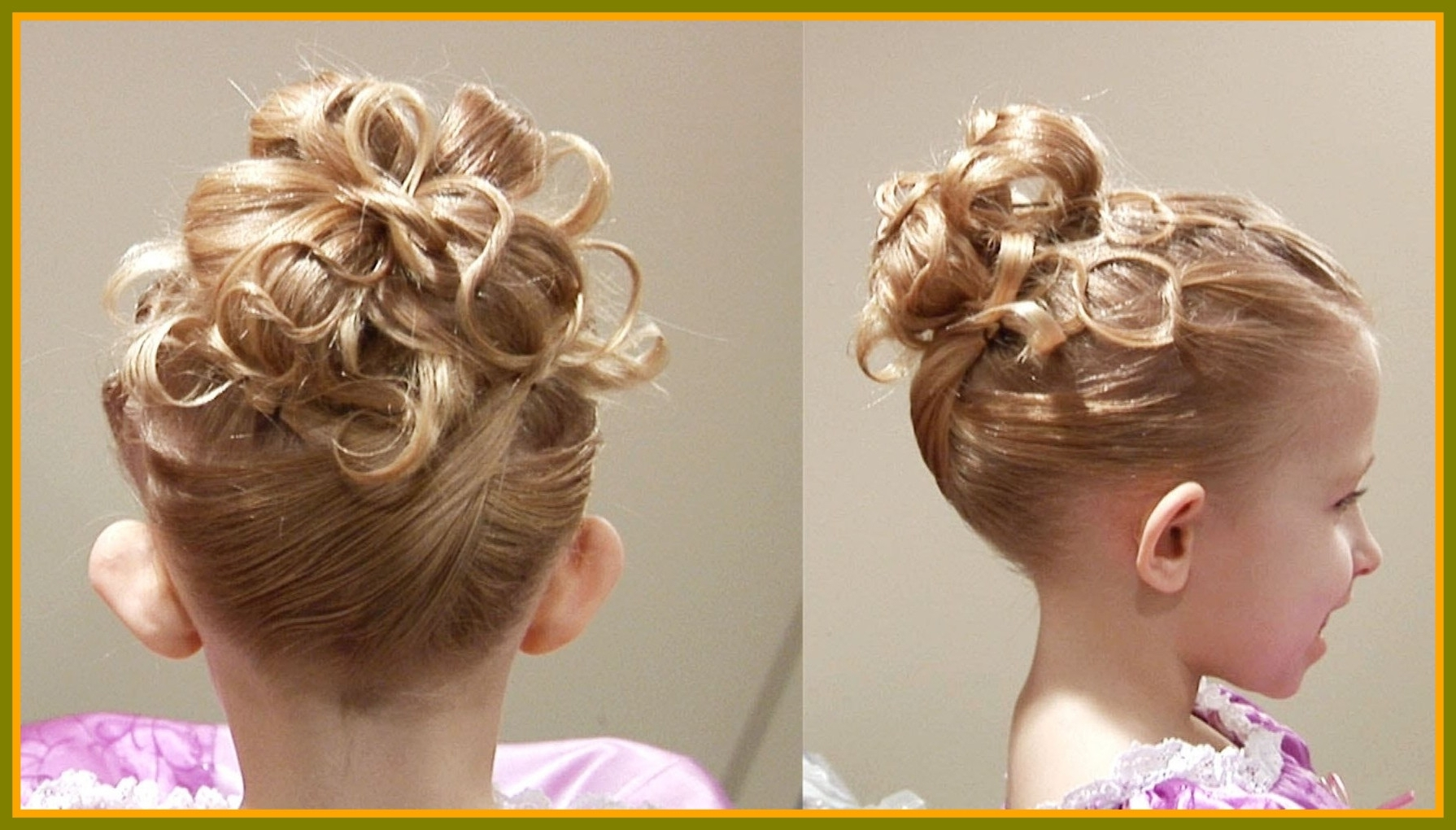 Well Liked Wedding Hairstyles For Kids In Awesome Photo Wedding Hairstyle For Children Kids Picture Updos (View 10 of 15)