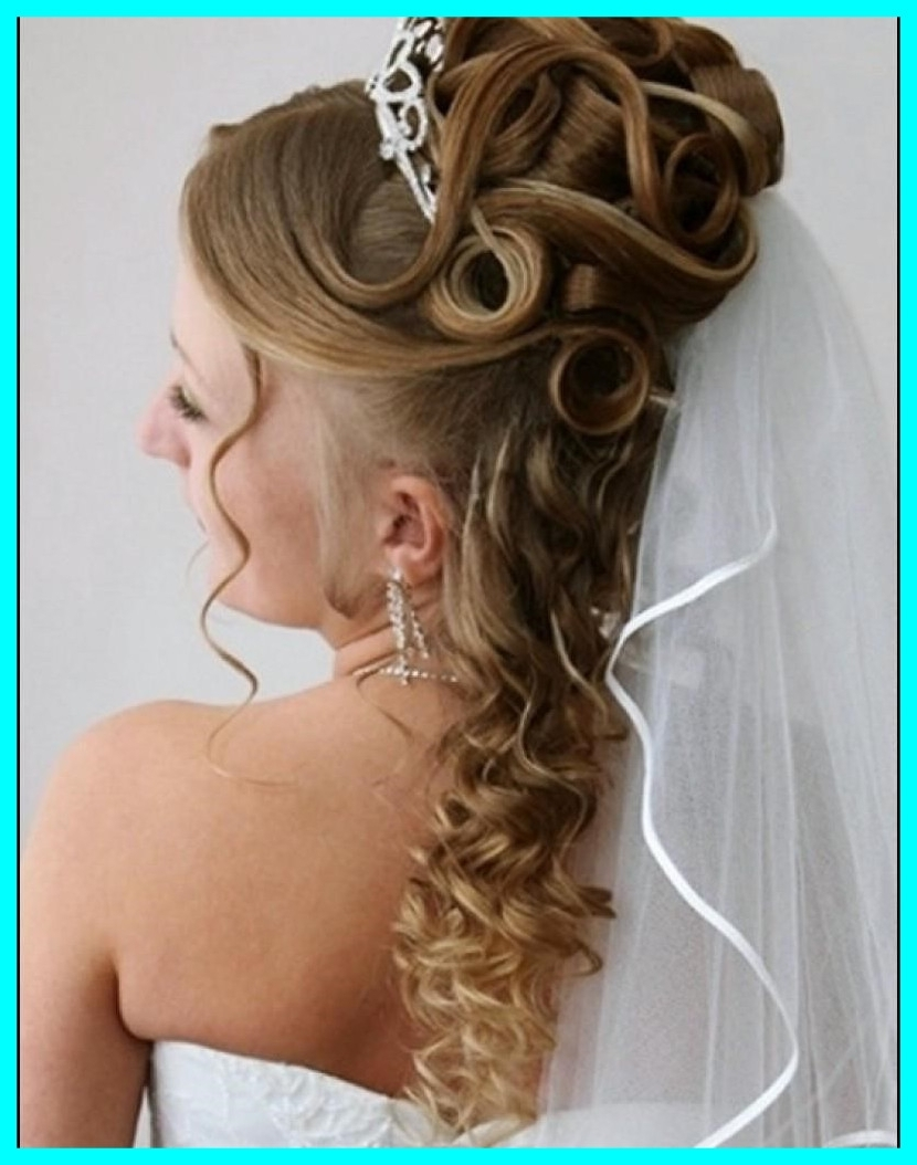 Well Liked Wedding Hairstyles For Long Length Hair Within Awesome Half Up Down Wedding Hairstyles For Medium Length Hair Pics (View 15 of 15)
