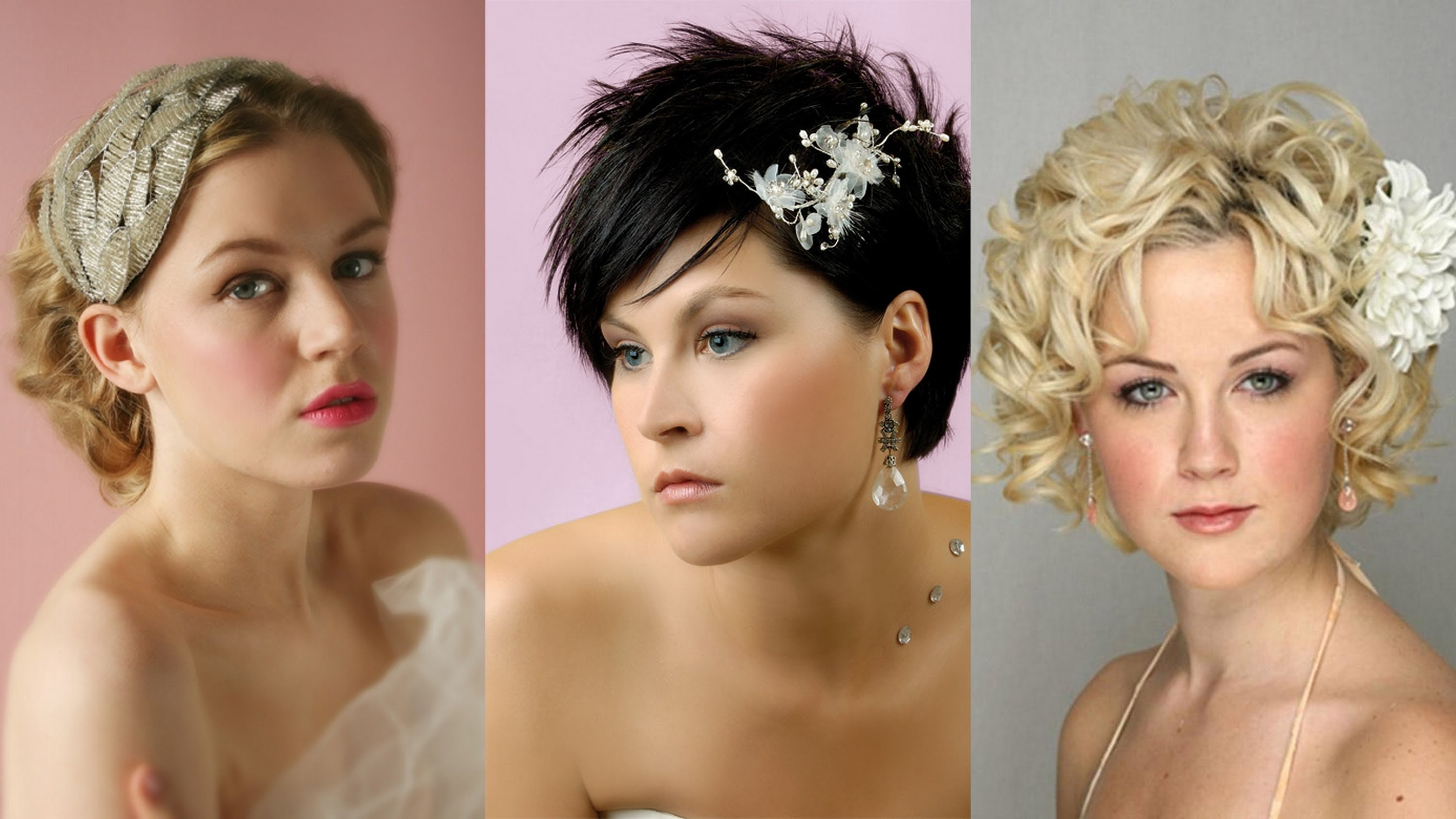 Well Liked Wedding Hairstyles For Short Hair Throughout 35 Lovely Wedding Hairstyles For Short Hair – Youtube (View 5 of 15)
