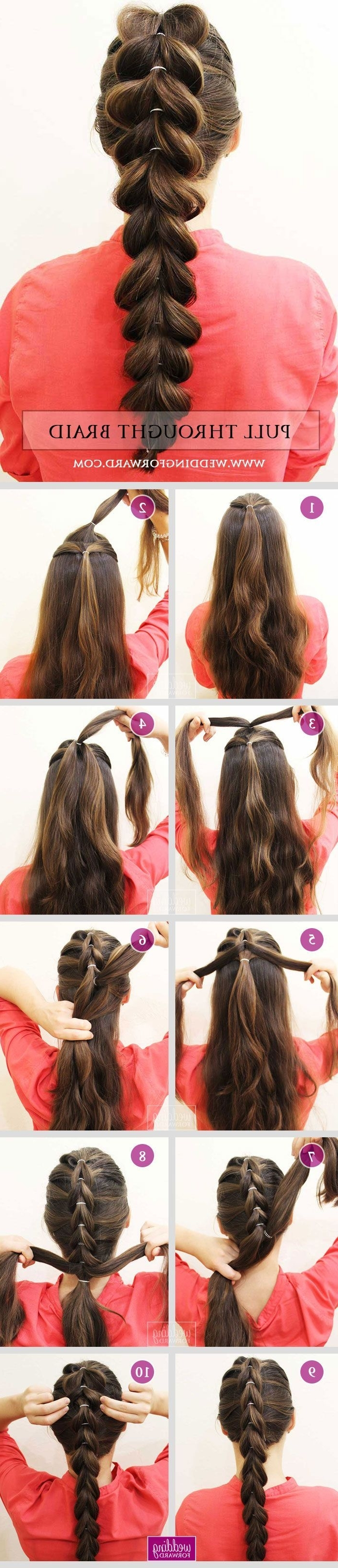Well Liked Wedding Hairstyles That You Can Do At Home Regarding 36 Braided Wedding Hair Ideas You Will Love❤ Stylish Pull Throught (View 14 of 15)