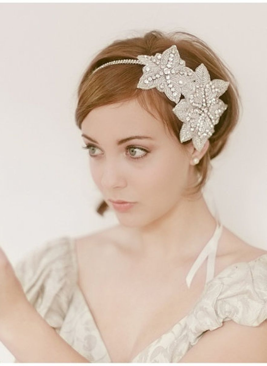 Well Liked Wedding Hairstyles With Headpiece In Wedding Hairstyles Headpieces Wedding Hairstyles For Short Hair With (Gallery 3 of 15)