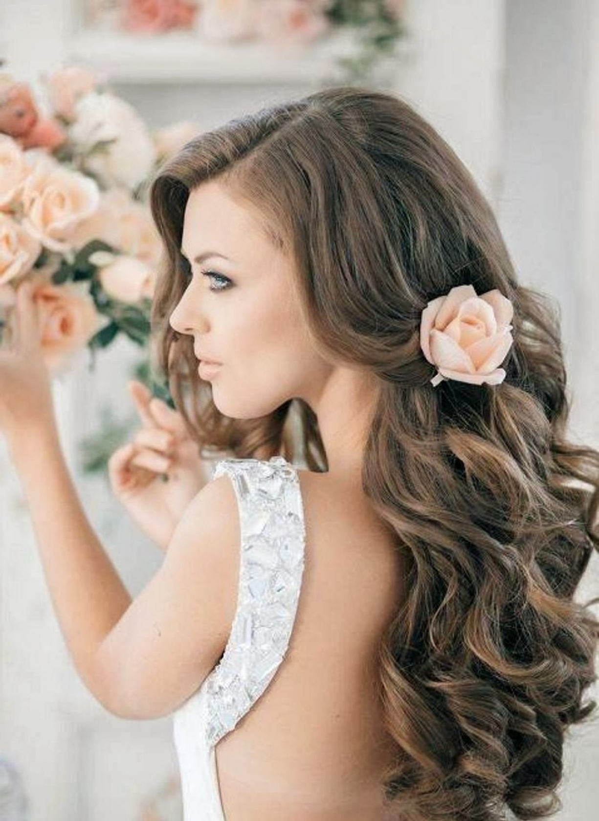 Well Liked Wedding Hairstyles With Long Hair Down With Hairstyle Down Wedding Hairstyle Long Hair Down Black Hair (View 11 of 15)