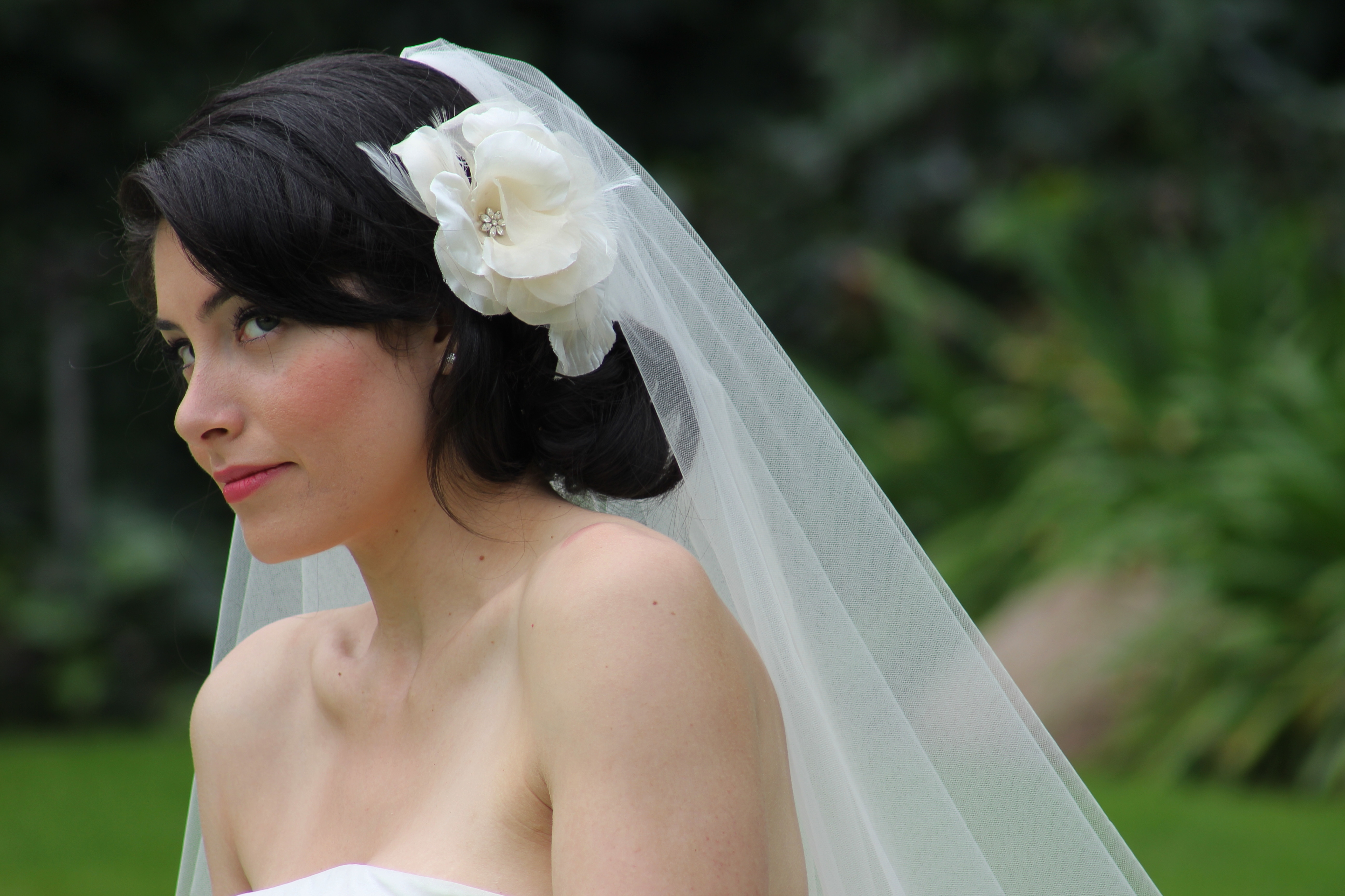 Well Liked Wedding Hairstyles With Veil And Flower Intended For Wedding Hair With Flowers And Veil Bridal Hairstyles With Veil And (View 6 of 15)