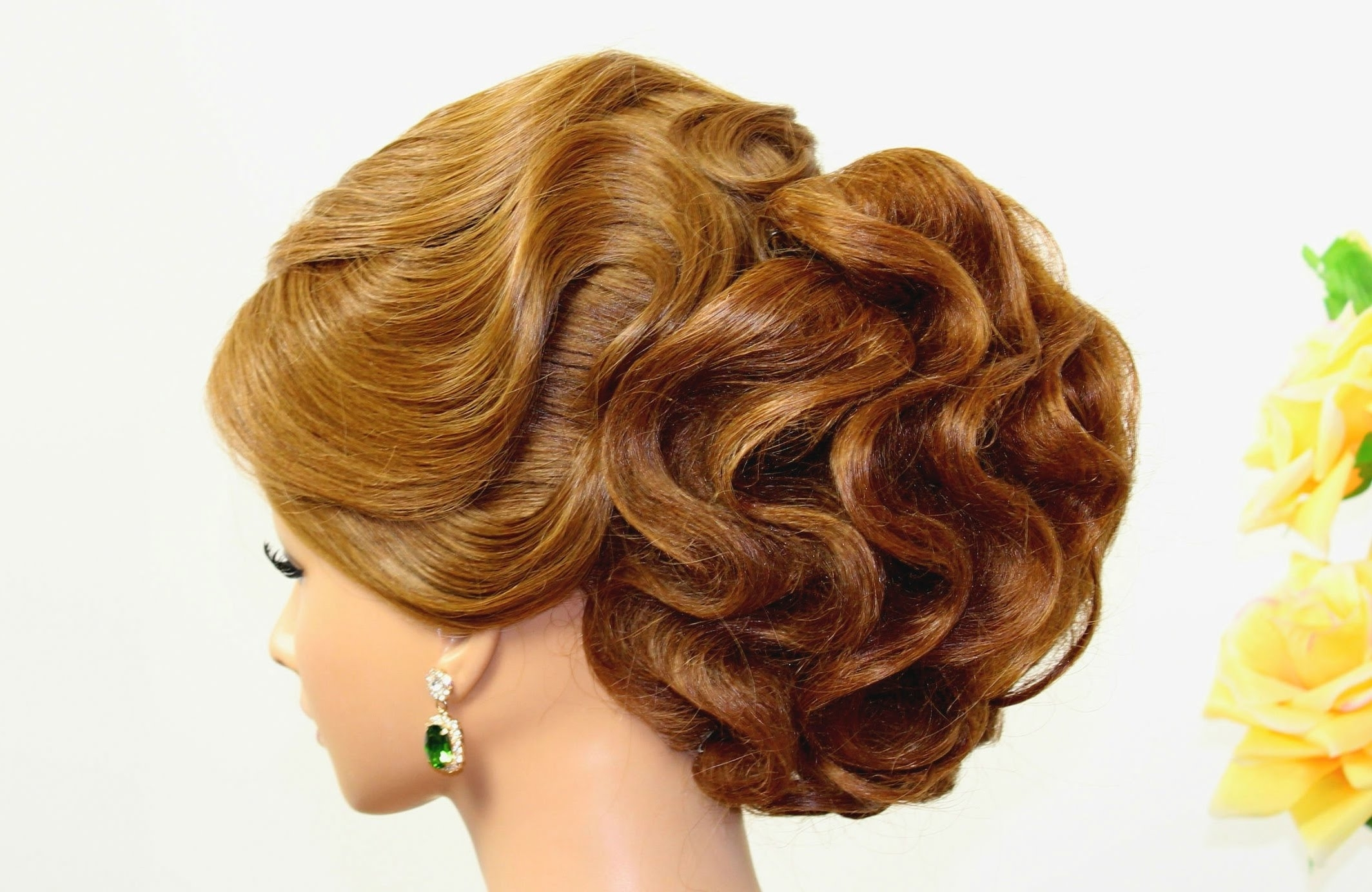 Well Liked Wedding Updos Hairstyles Throughout Updo Hairstyle For Long Hair Tutorial With Hair Nets (View 13 of 15)
