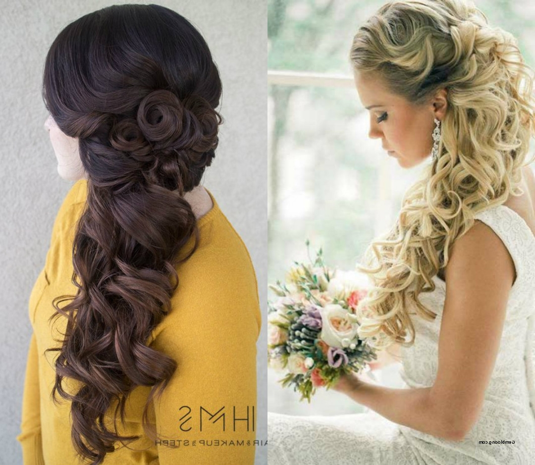 Widely Used Down To The Side Wedding Hairstyles Throughout Half Up Half Down Side Hairstyles 2018 – Csdathletics (View 15 of 15)