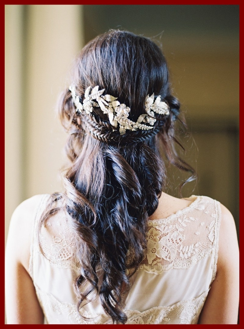 Widely Used Half Up Half Down With Braid Wedding Hairstyles In The Best Half Up Down Wedding Hairstyles For Every Type Of Bride (View 12 of 15)
