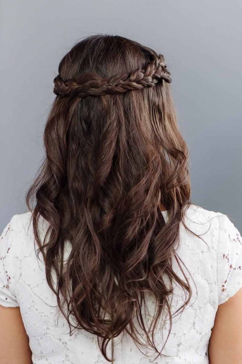 Widely Used Half Up Wedding Hairstyles For Bridesmaids Regarding Debonair Bangs Long Hair Mor Half Up Half Down Bridesmaid Hairstyle (View 15 of 15)