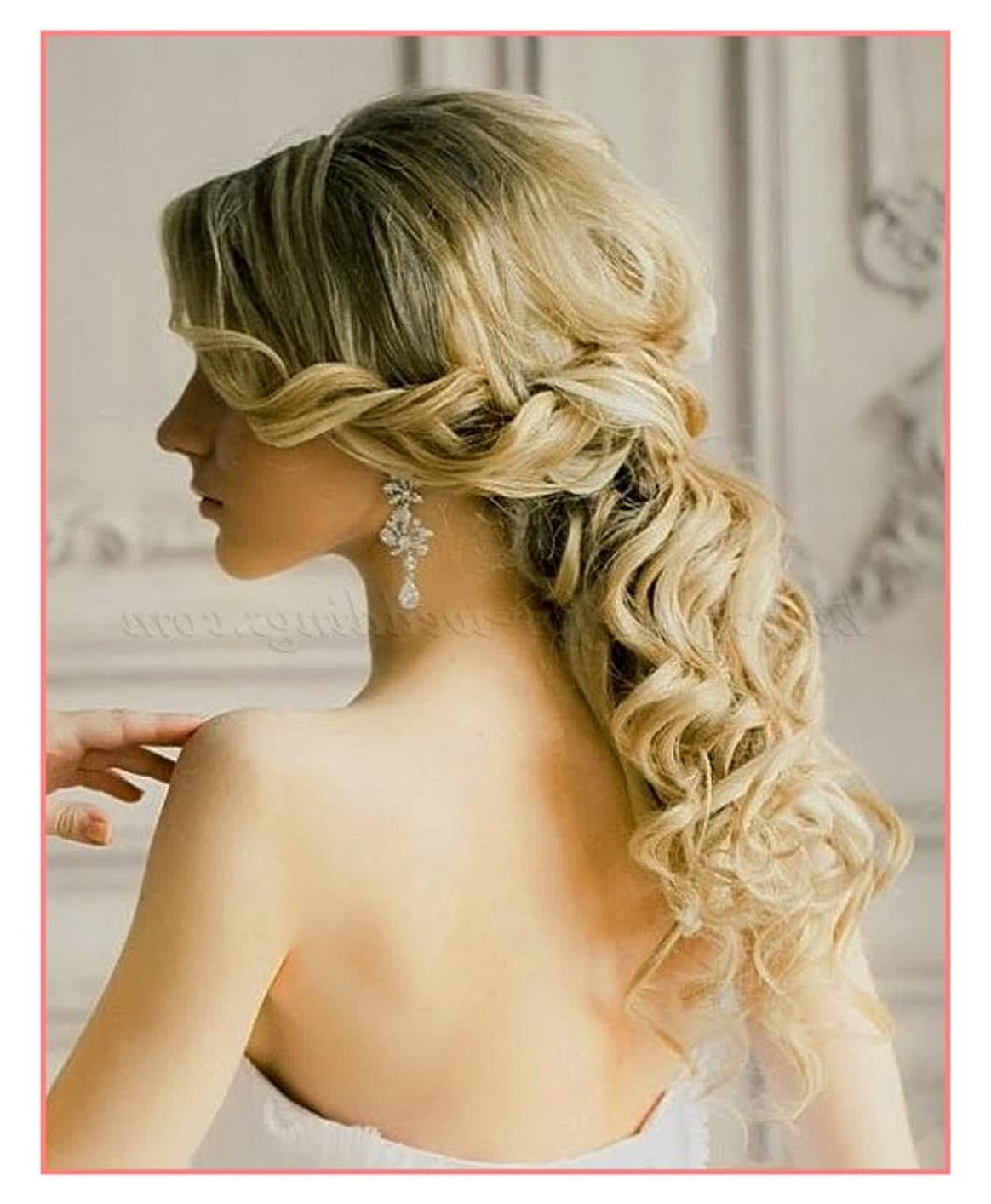 16 Gorgeous Medium Length Wedding Hairstyles: 15 Ideas Of Wedding Down Hairstyles For Medium Length Hair