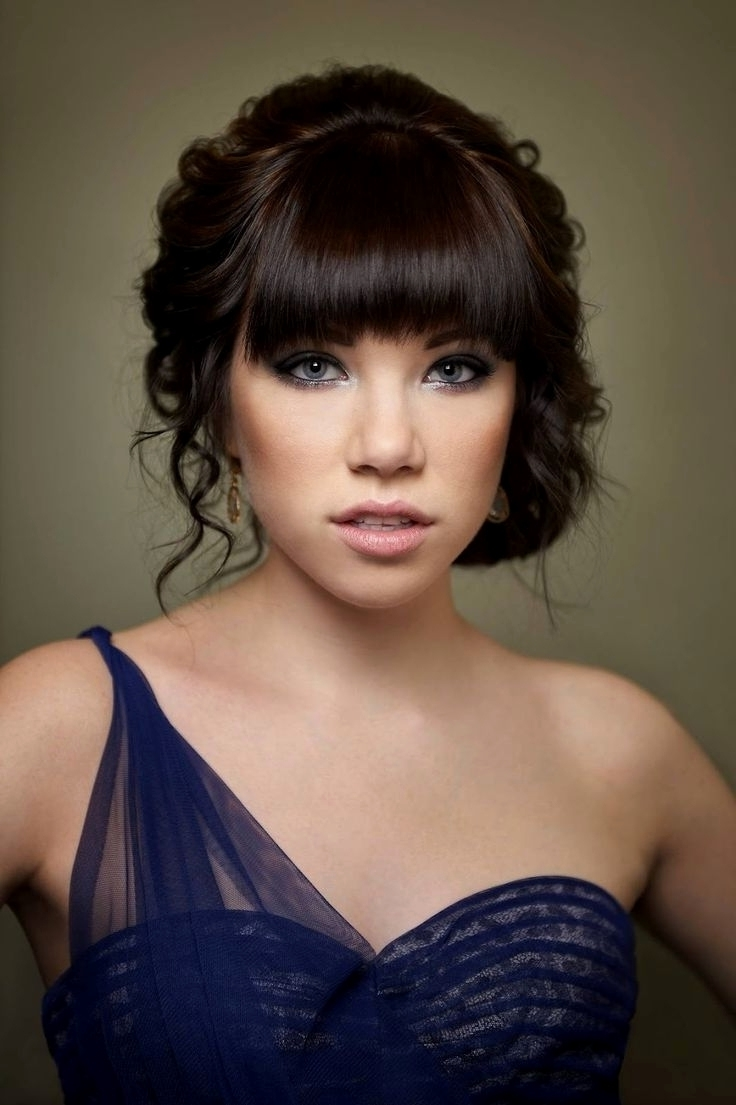 Widely Used Wedding Hairstyles For Long Hair With Fringe Intended For Wedding Hairstyles Fringe Beautiful Wedding Hairstyles With Side (View 15 of 15)
