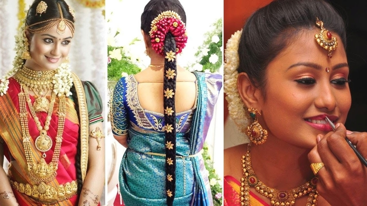 Widely Used Wedding Hairstyles For Sarees Pertaining To Indian Bridal Hairstyle For Saree (View 15 of 15)