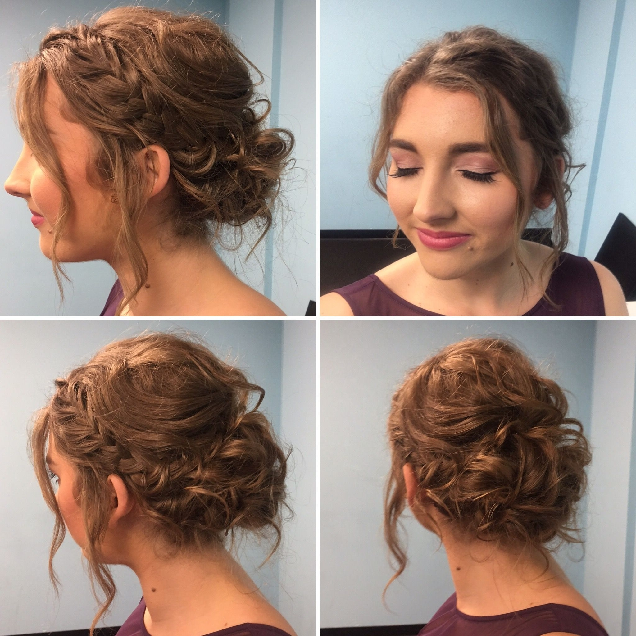 Widely Used Wedding Hairstyles For Short To Mid Length Hair Regarding Bridesmaid Hair. Short Hair Updo. Bridesmaid Makeup (View 14 of 15)