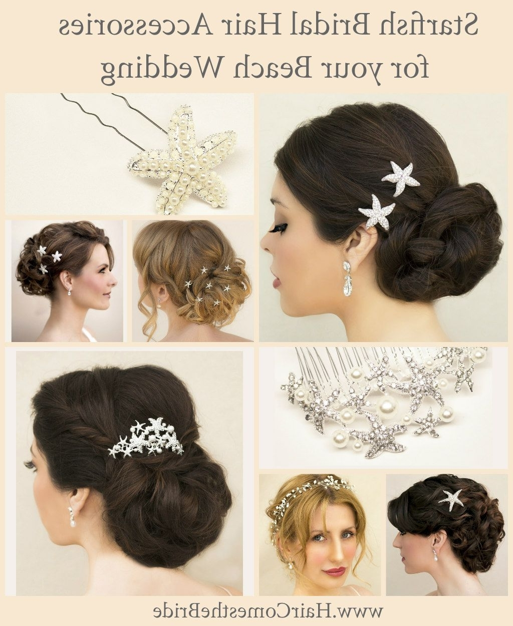 Widely Used Wedding Hairstyles With Hair Accessories With Starfish Bridal Hair Accessories For Your Beach Wedding (View 14 of 15)