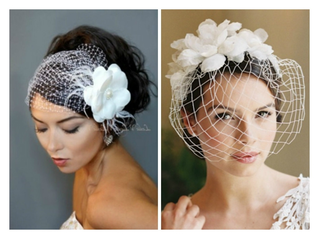 Winter Inspired Wedding Hairstyle Ideas – Hair World Magazine Regarding Popular Wedding Hairstyles For Short Hair With Birdcage Veil (View 15 of 15)