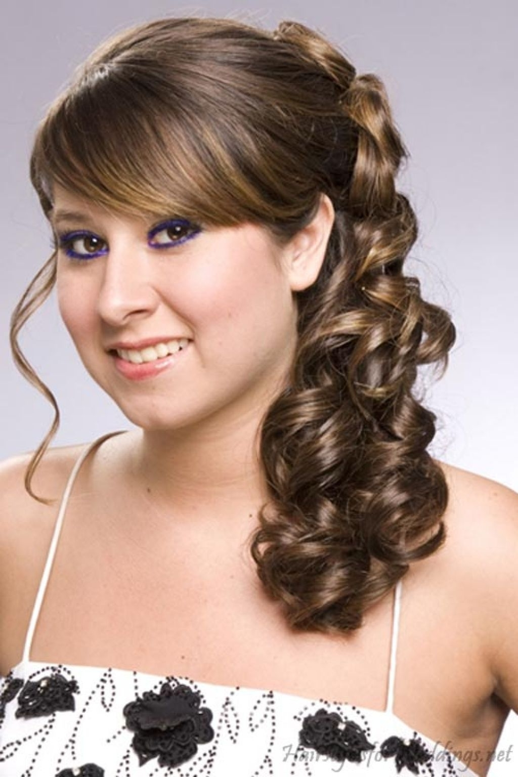 Women Hairstyle Prom Hairstyles Curly Down And Cute Formal Hair For With Regard To Popular Wedding Hairstyles For Short Length Hair Down (View 15 of 15)
