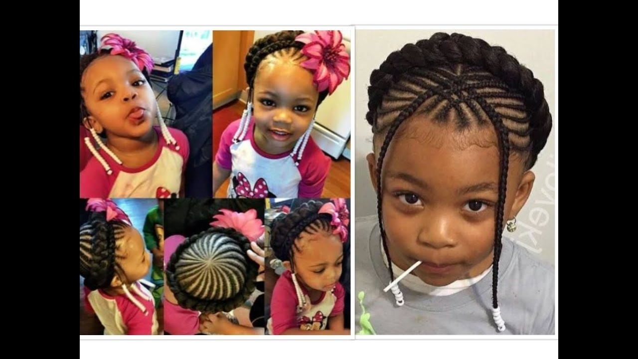 10 Beautiful Halo/ Crown Braids For Your Little Girl – Youtube In 2017 Braid Hairstyles For Little Girl (View 1 of 15)