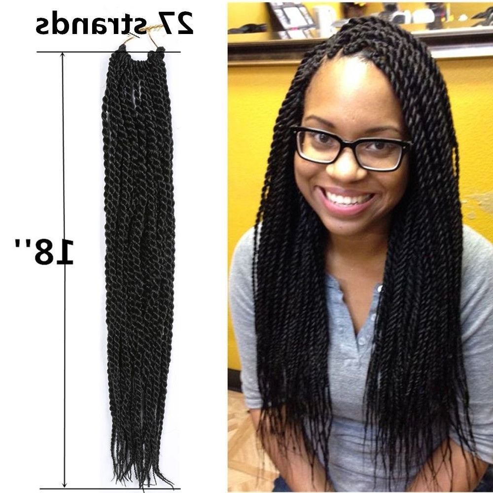 "18"" Kanekalon Small Senegalese Twist Crochet Braid Long Synthetic For Latest Braided Hairstyles With Crochet (View 1 of 15)"