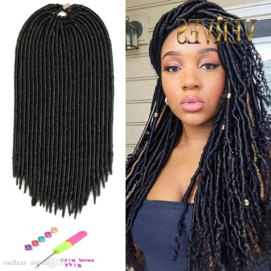 18Inch Faux Locs Crochet Hair Dreadlocks Braids Havana Mambo Twist With 2017 Braided Hairstyles With Crochet (View 2 of 15)