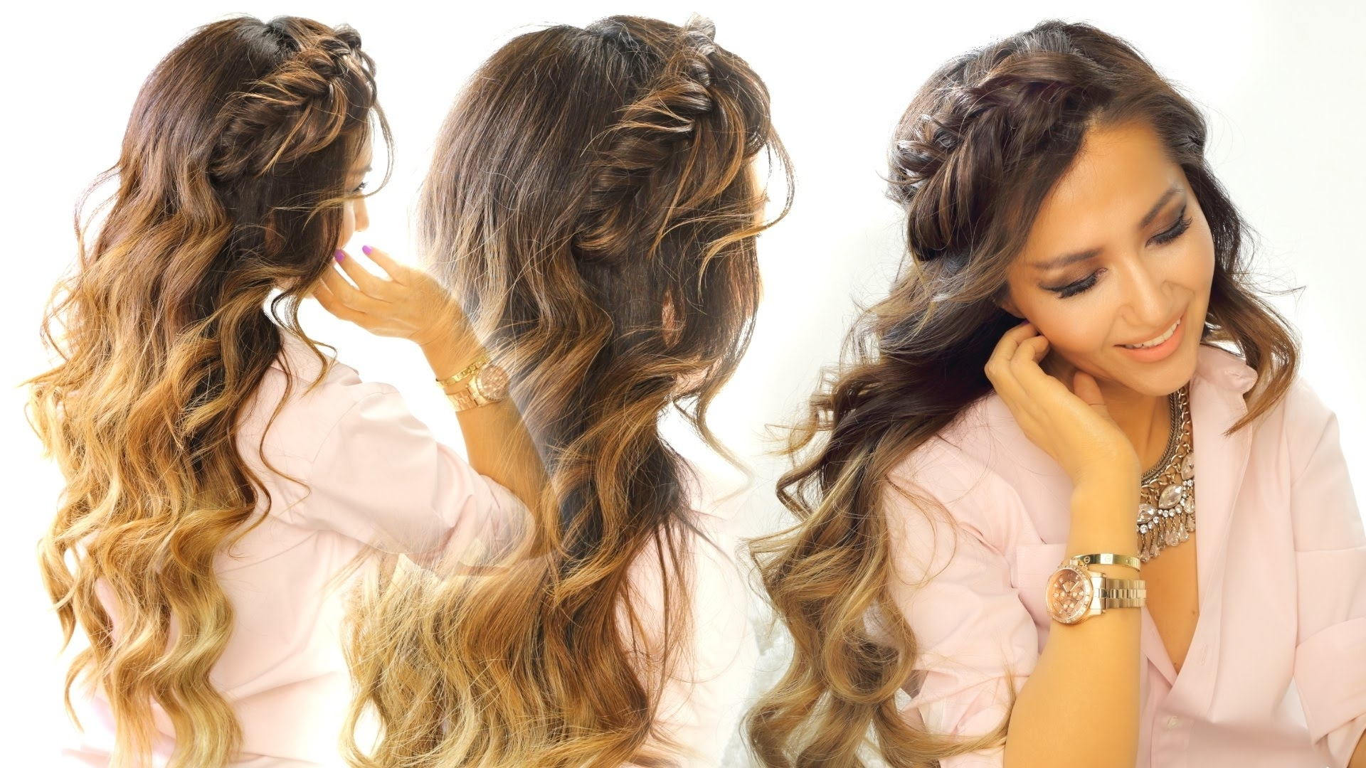 2 Cute Headband Braid Hairstyles ☆ Quick & Easy Hairstyle For Long Within Most Current Braided Graduation Hairstyles (View 1 of 15)