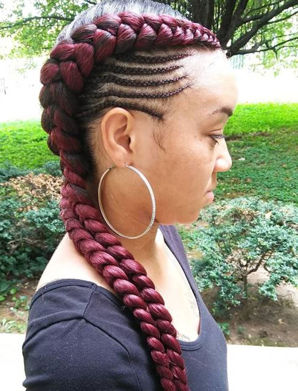 20 Best African American Braided Hairstyles For Women 2017 2018 With Regard To Current African American Braided Hairstyles (View 6 of 15)