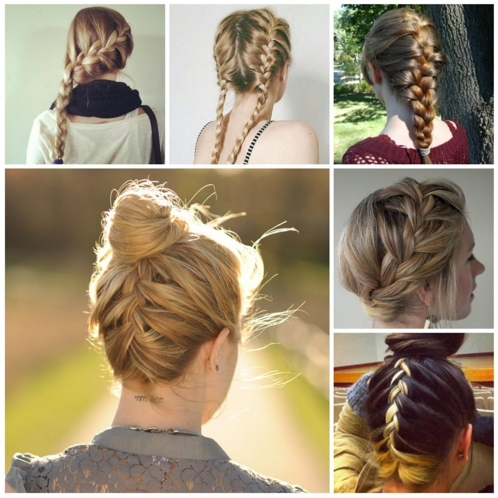 2017 Braided Hairstyles For Layered Hair Within √ 24+ Best Cute Braided Hairstyles For Medium Length Hair: French (View 2 of 15)