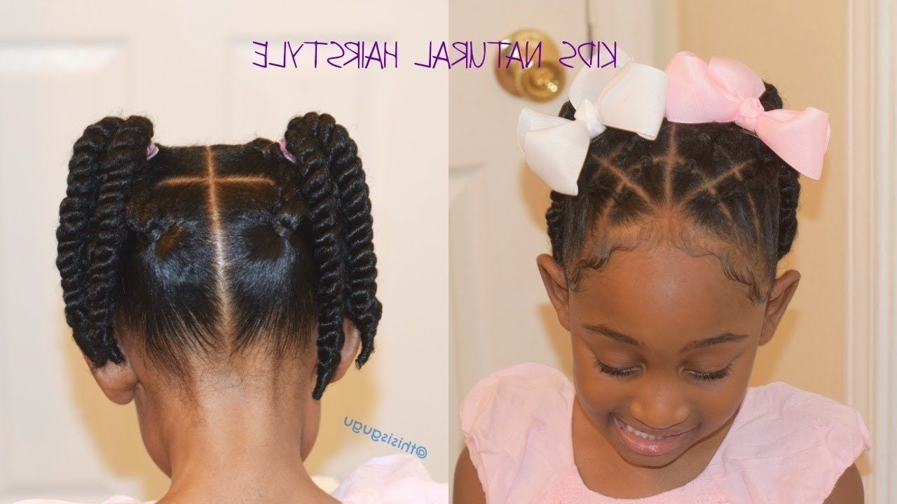 2017 Braided Hairstyles To The Back Throughout Kids/little Girls Natural Hairstyles: Back To School (View 15 of 15)