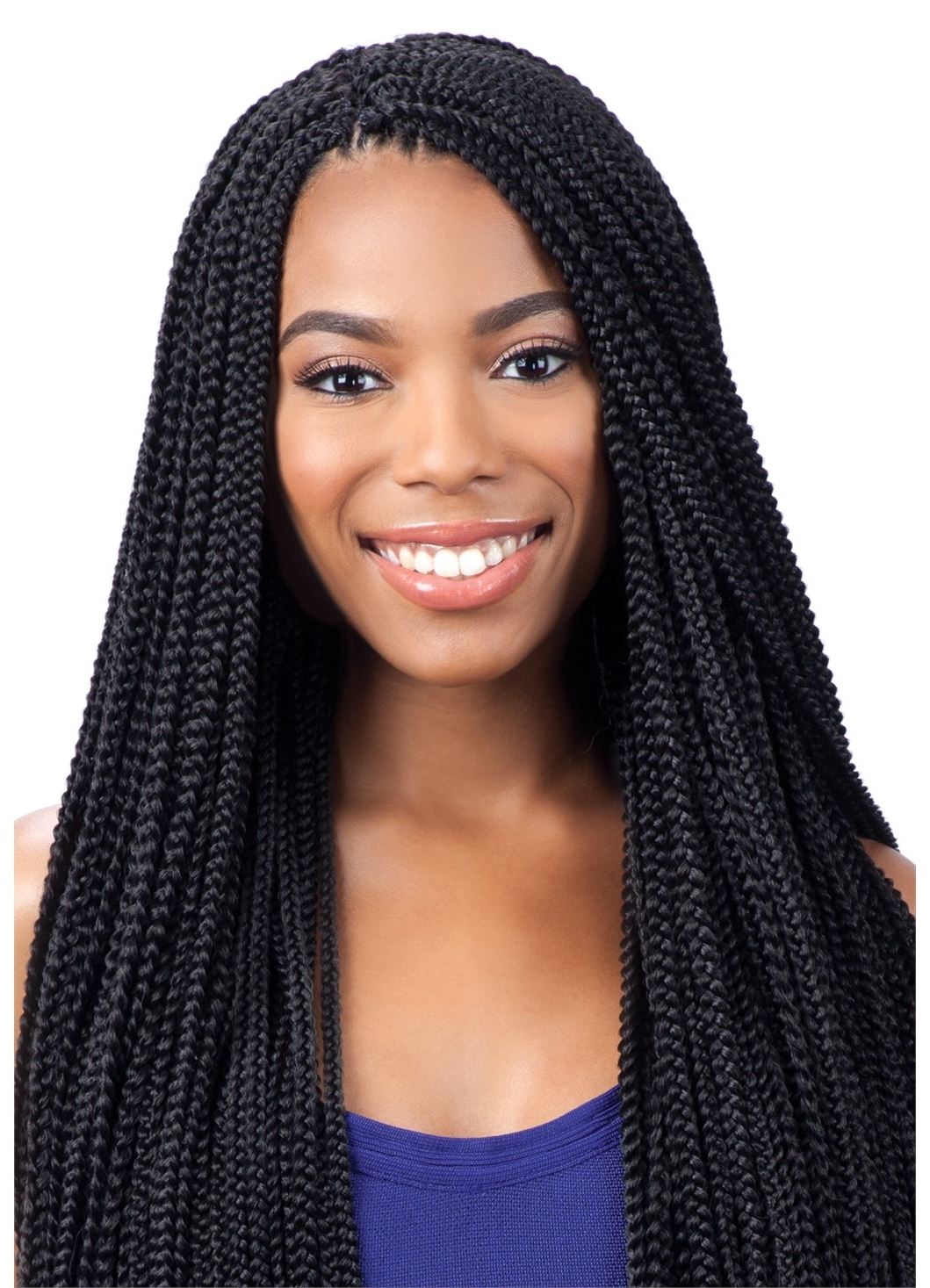 2017 Braided Hairstyles With Crochet In Small Box Braids – Freetress Synthetic Crochet Braid Hair Pre Looped (View 3 of 15)