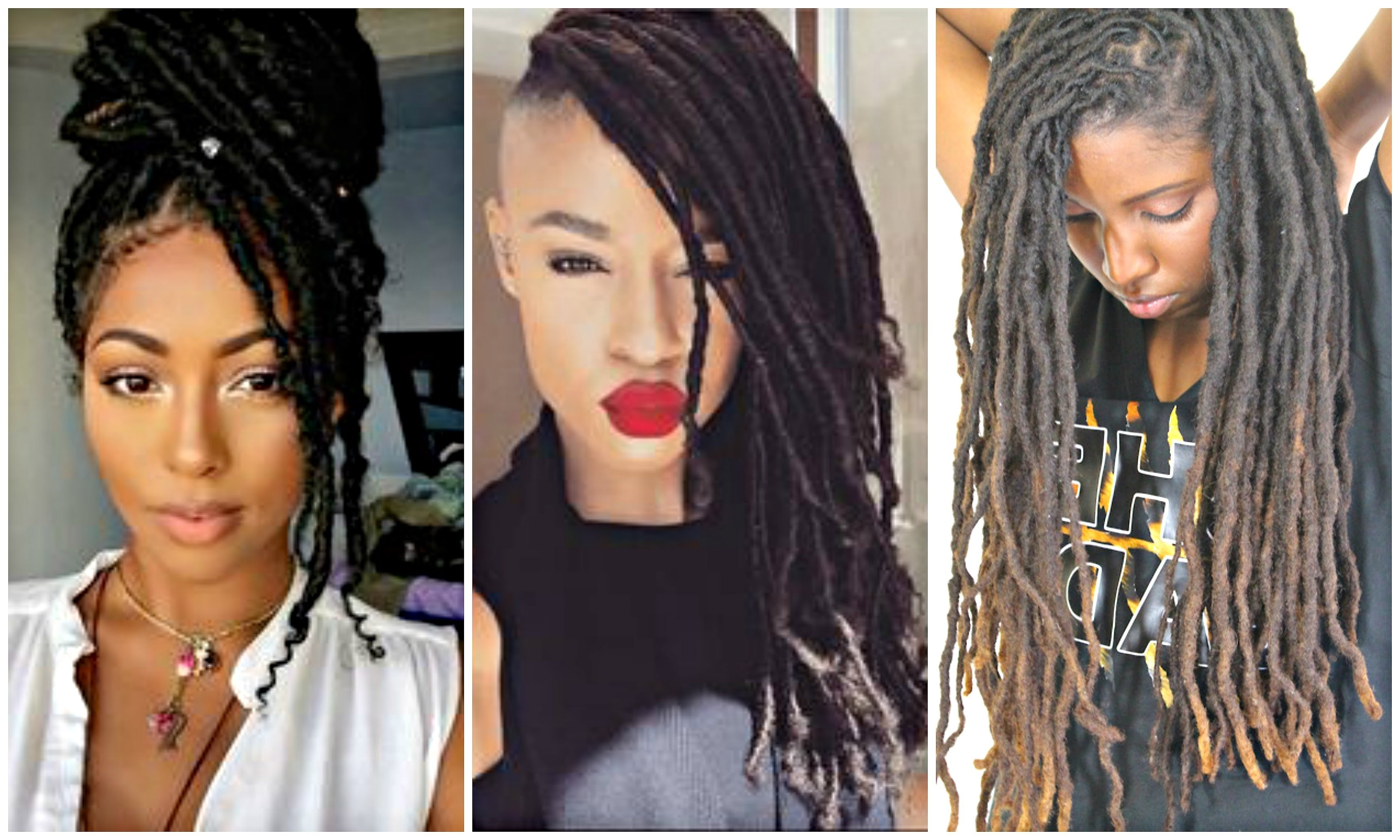 2017 Dreadlock And Sisterlock Hairstyles For Black & African With Recent Dreadlocks Hairstyles For Women (View 2 of 15)