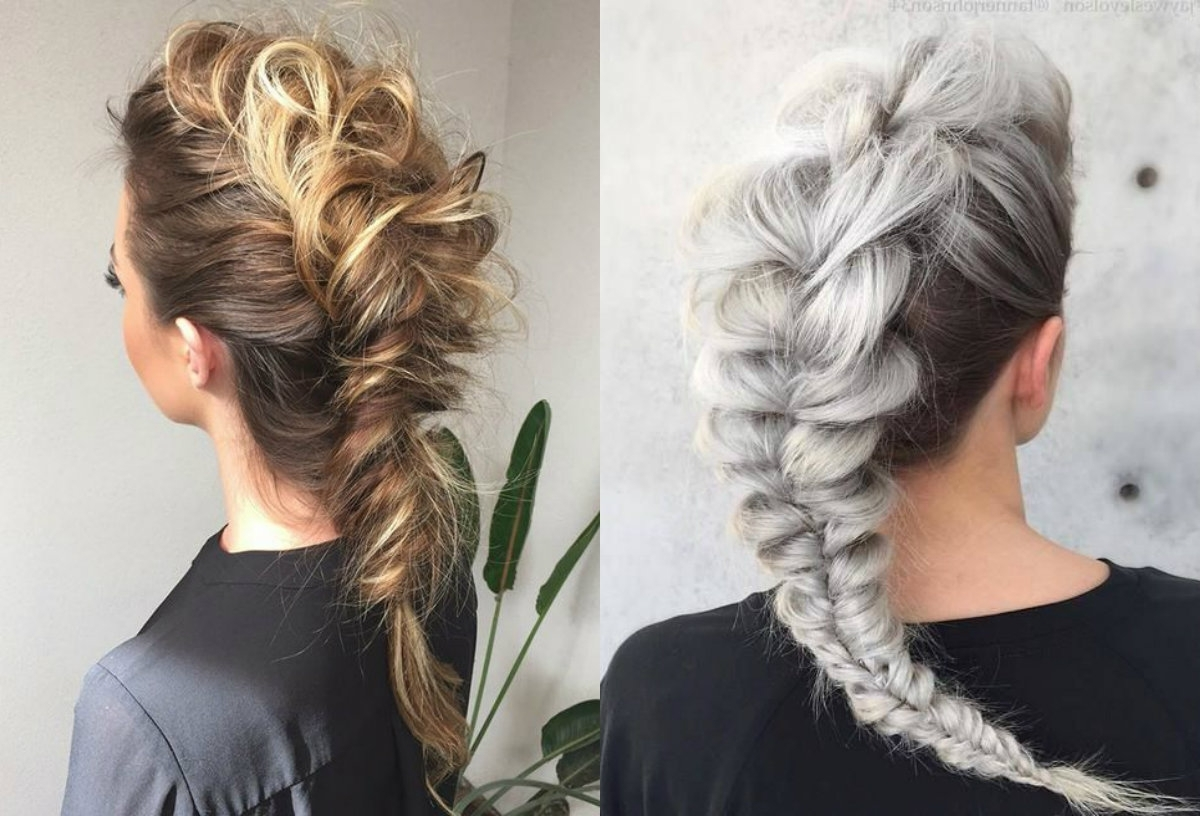 2017 White Braided Hairstyles With Regard To Expressive Women Braided Mohawk Hairstyles (View 1 of 15)