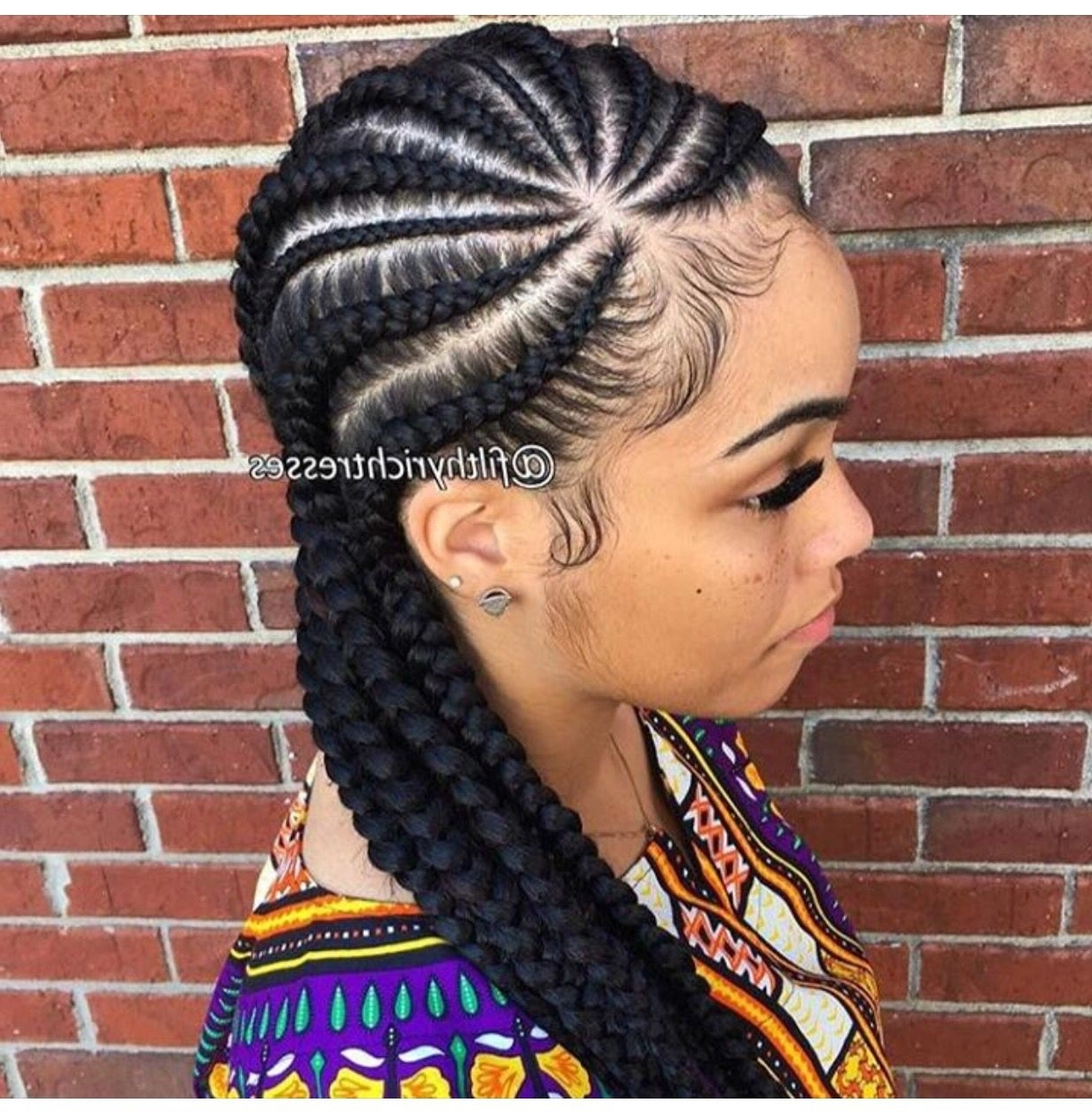 2018 Braided Hairstyles For Black Girls In Shocking Pinjanelle Bourda On Hairstyles Black Girl Image Of (View 7 of 15)