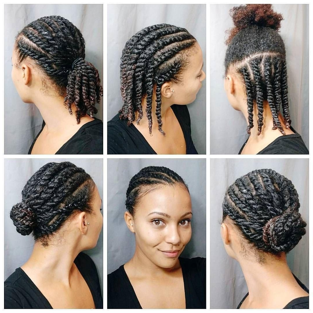 2018 Braided Hairstyles On Natural Hair Intended For Ideas Easy Braided Hairstyles Natural Hair Fantastic For Black Quick (View 3 of 15)