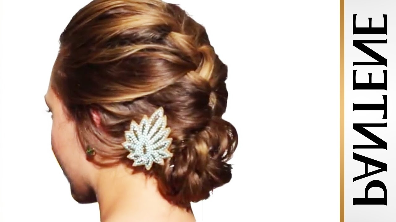 2018 Braided Hairstyles Up Into A Bun Throughout French Braid Into Messy Bun: Updo Hairstyles For Long Hair – Youtube (View 2 of 15)
