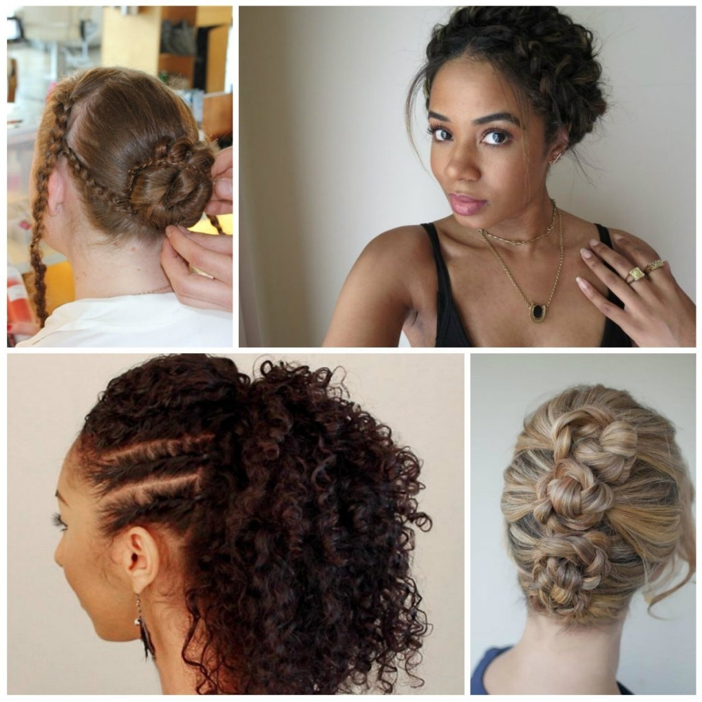 2018 Braided Hairstyles With Curls Within Braided Updo With Curly Weave Side Braid Hairstyles Curls Cute Twist (View 8 of 15)