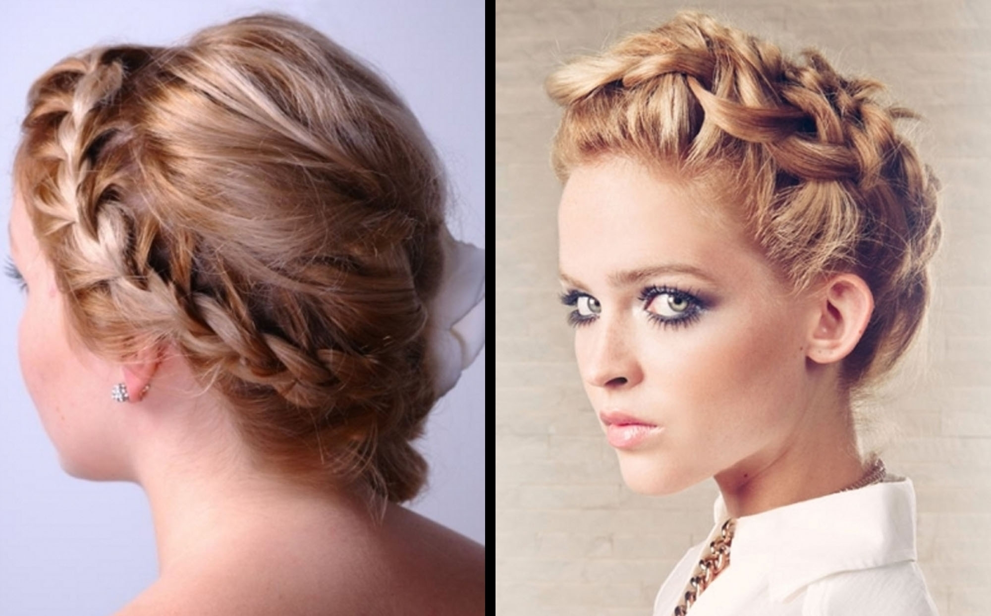 2018 Braided Updo Hairstyles For Medium Hair Inside Formal Hairstyles Braided Updo Wedding Hairdo Hair (View 1 of 15)