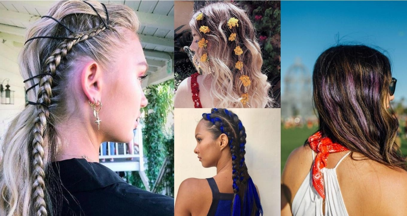 2018 Coachella Hair Trend: The Biggest Hair Trends That Are Going To Pertaining To Favorite Coachella Braid Hairstyles (View 7 of 16)