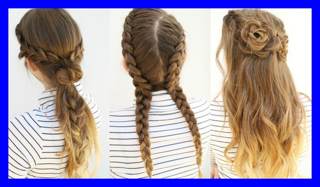 2018 Medium Length Braided Hairstyles Intended For Amazing Easy Hairstyle For Medium Length Hair Pict Of Braided Ideas (View 1 of 15)