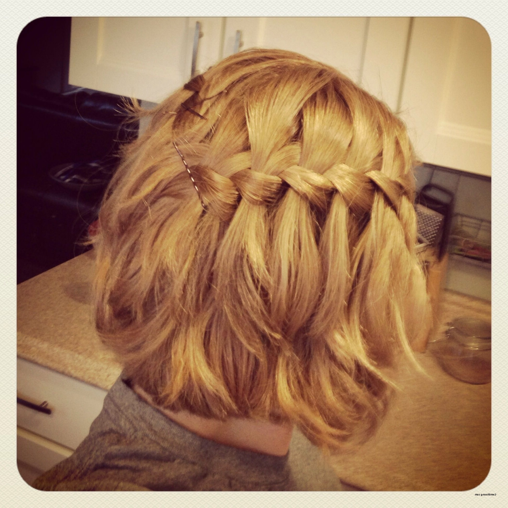 2018 Shoulder Length Hair Braided Hairstyles Pertaining To Braid Hairstyles For Shoulder Length Hair Lovely Waterfall Braid (View 8 of 15)