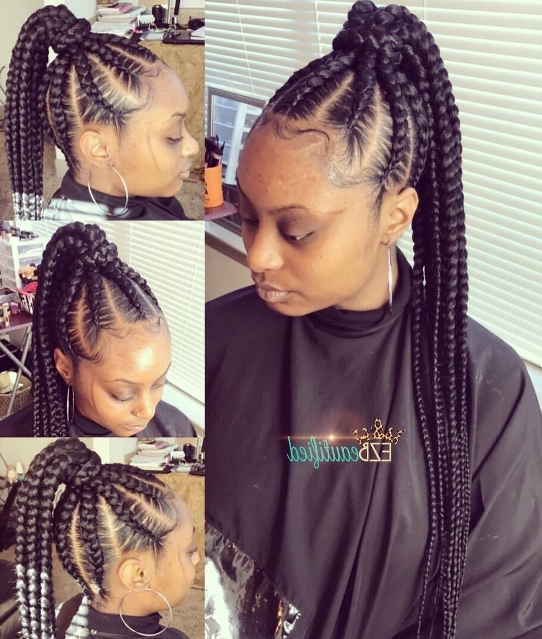210 Likes, 3 Comments – Brejia' (breejay) (@ezbeautified) On For Most Recent Black Braided Ponytail Hairstyles (View 2 of 15)