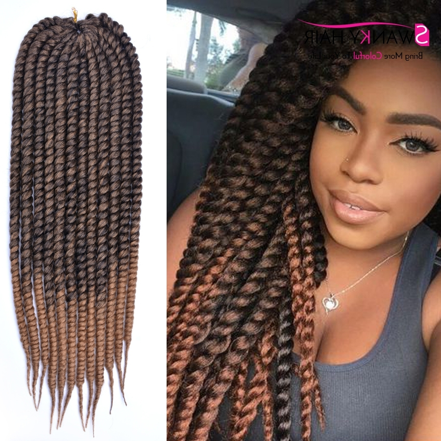 24Inch Mambo Twist Crochet Braids Hair Extension 1B/30 Crochet Braid Pertaining To Trendy Braided Hairstyles With Color (View 1 of 15)