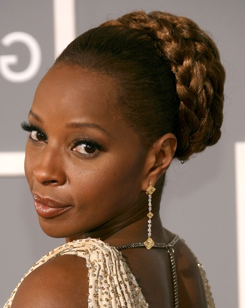 Photo Gallery Of Braided Updo Hairstyles With Weave Viewing 5 Of 15