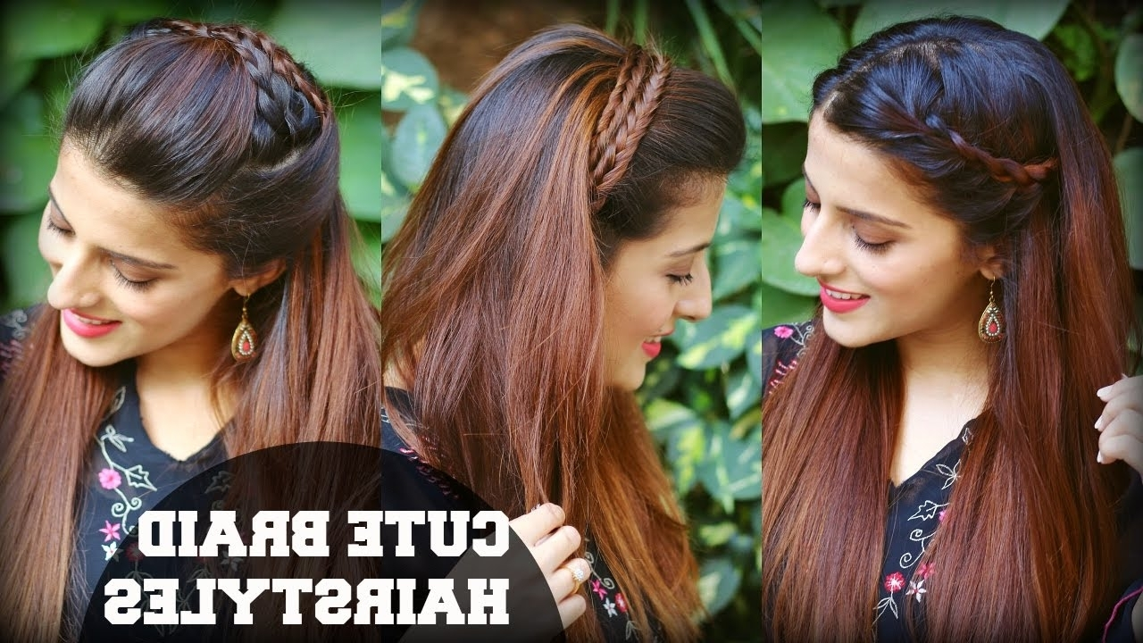 3 Cute & Easy Everyday Headband Braid Hairstyles For School, College For Most Popular Indian Braided Hairstyles (View 2 of 15)