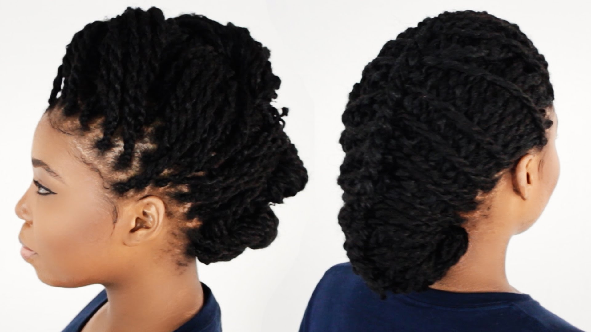 3 Ways To Style Your Kinky Twist Hairstyles Tutorial 6 Of 7 – Youtube For Preferred Kinky Braid Hairstyles (View 1 of 15)