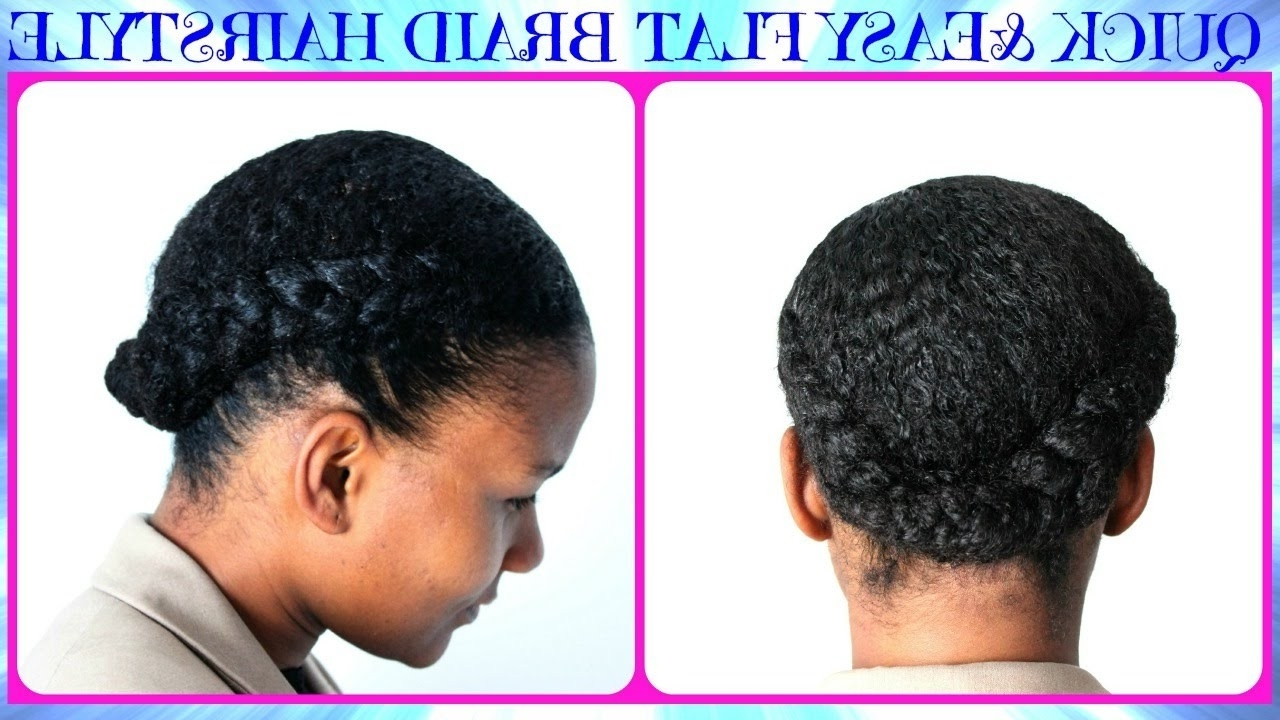 30 Elegant Easy Braided Hairstyles For Black Hair ~ Louis Palace For 2018 Quick Braided Hairstyles For Natural Hair (View 2 of 15)