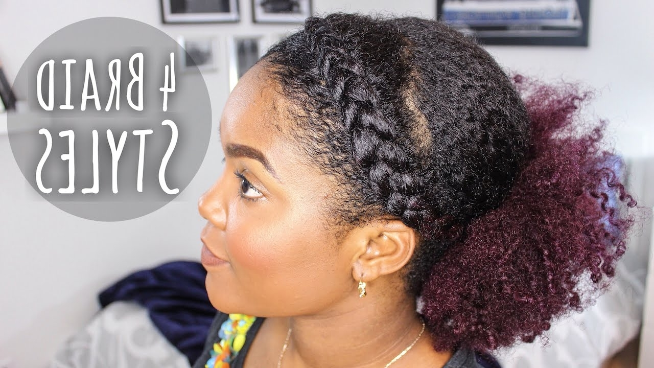 4 Easy Braid Styles – Youtube With Regard To Favorite Quick Braided Hairstyles For Natural Hair (View 3 of 15)
