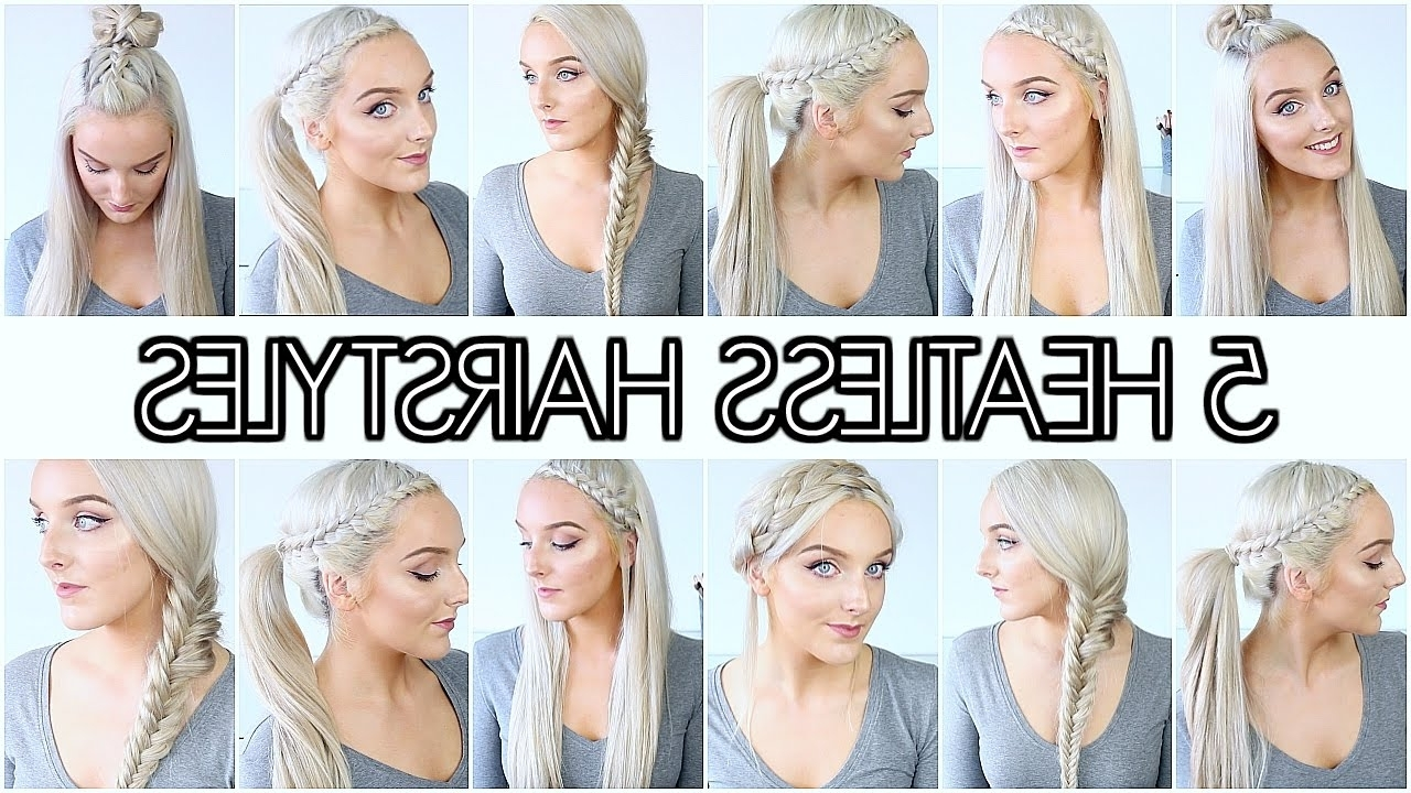 5 Braided Back To School Heatless Hairstyles – Youtube With Regard To Preferred Braided Hairstyles For School (View 3 of 15)