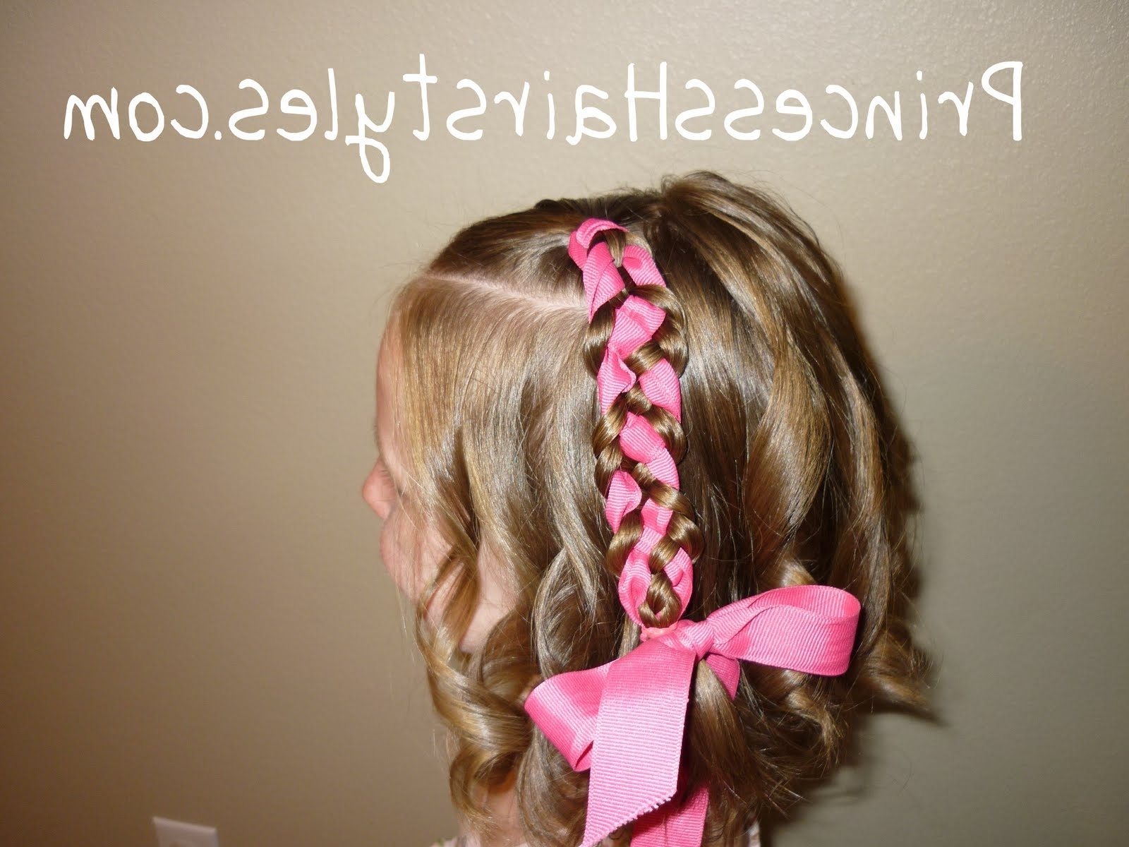 5 Strand Ribbon Braid – Hairstyles For Girls – Princess Hairstyles Regarding Well Liked Braided Ribbon Hairstyles (View 12 of 15)
