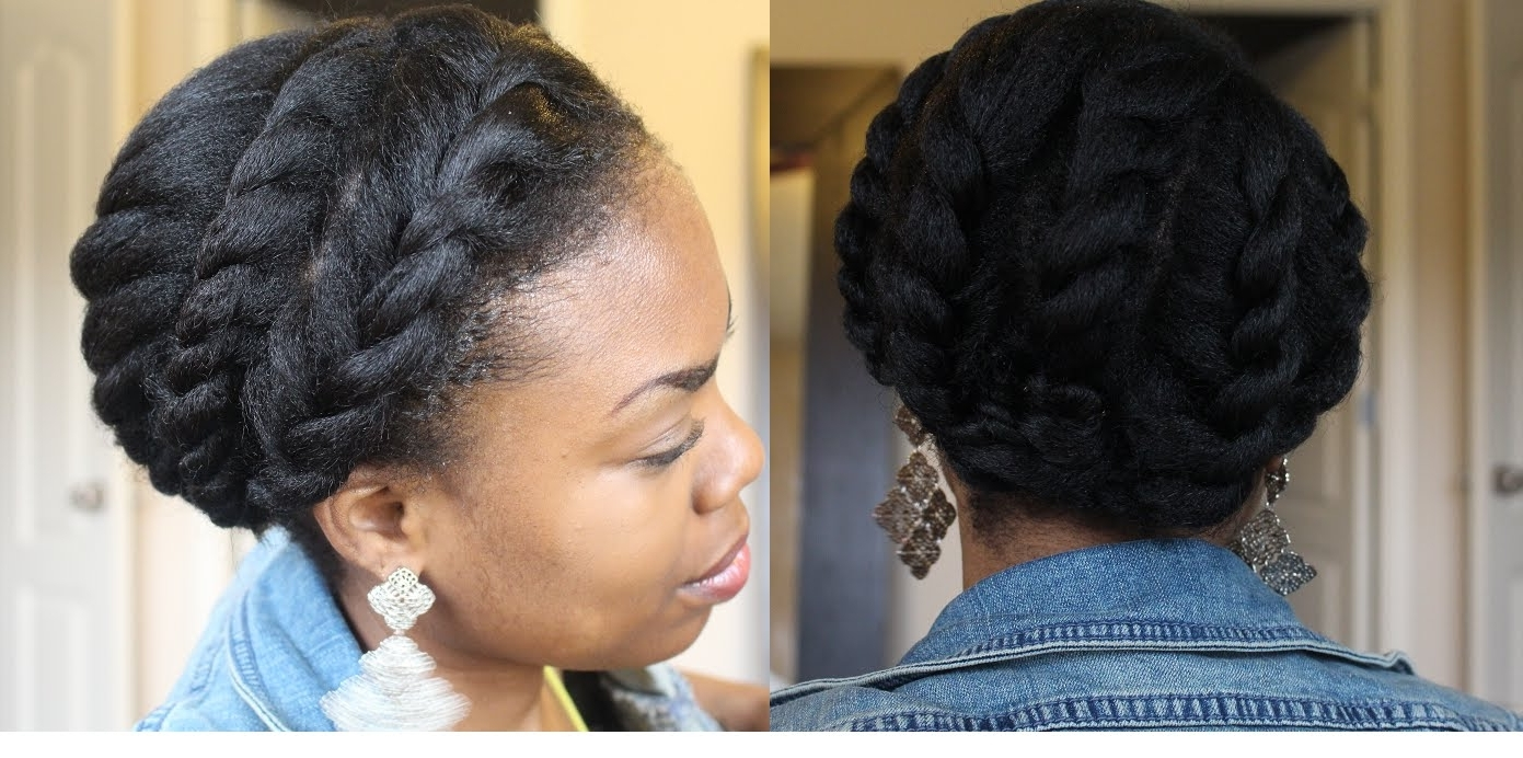 6 Of The Best Styles For Long Or Short 4b/4c Natural Hair — 2015 Regarding 2017 Braided Updo Hairstyles For Short Natural Hair (View 12 of 15)