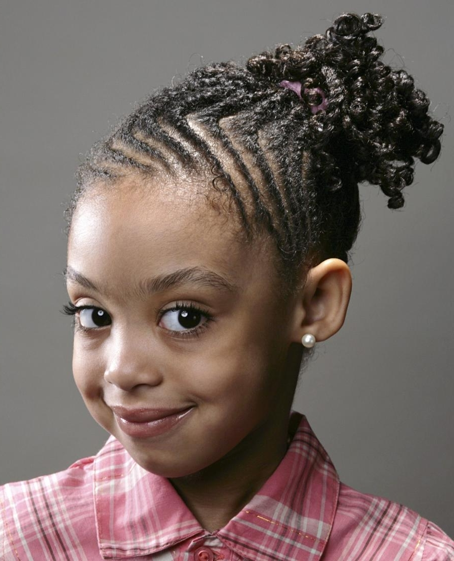 64 Cool Braided Hairstyles For Little Black Girls – Hairstyles With Well Known Braided Hairstyles For Short African American Hair (View 4 of 15)