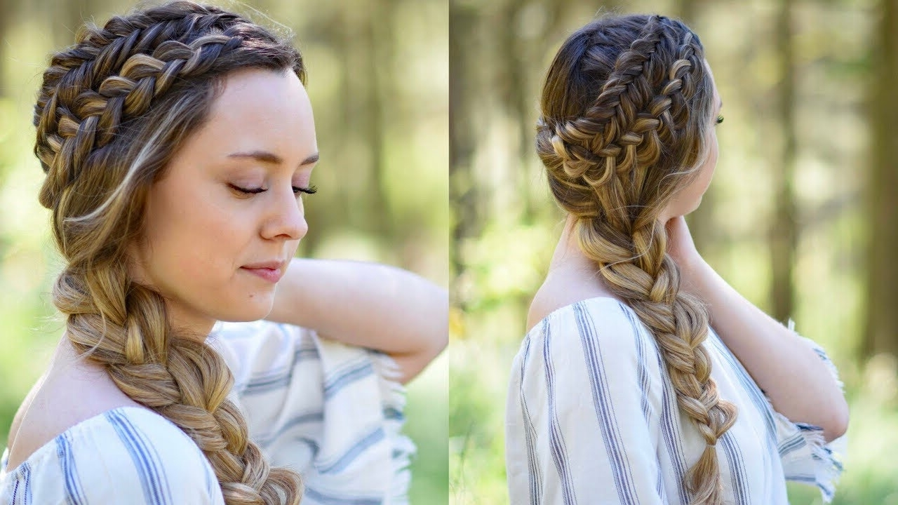 77 Medium Length Braided Hairstyles Lovely Double Dutch Side Braid In Newest Braided Hairstyles To The Back (Gallery 10 of 15)