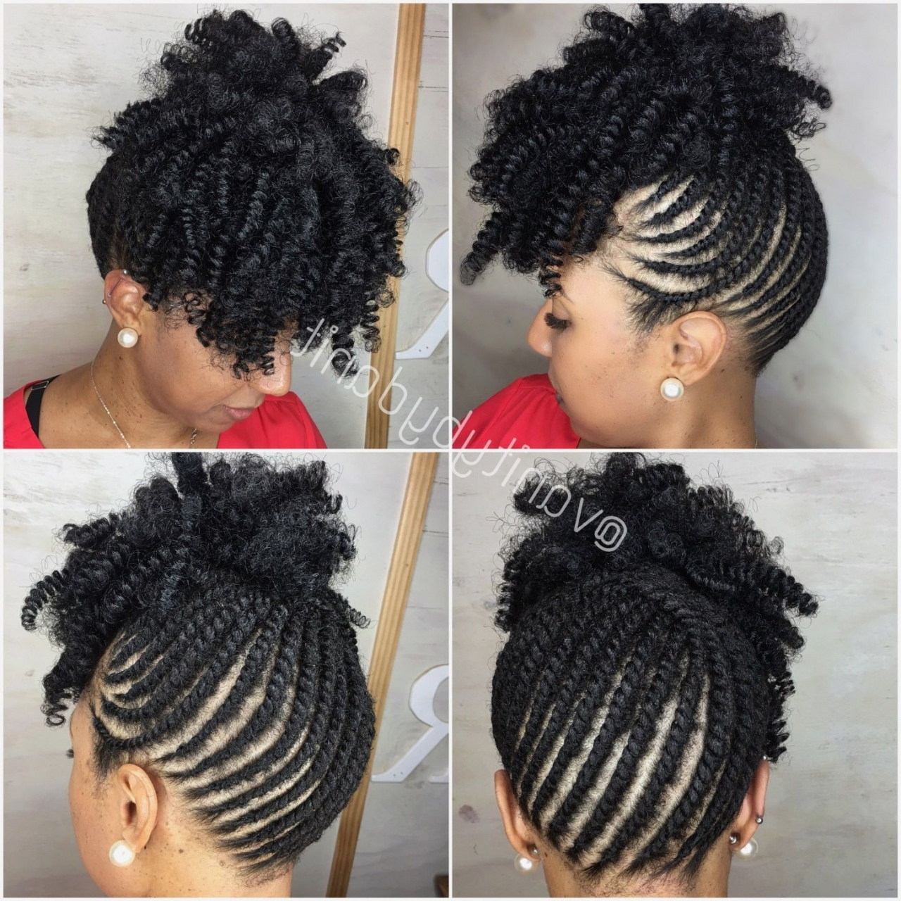 77 Natural African American Hairstyles Unique Stunning Braided Throughout Fashionable Braided Hairstyles On Short Natural Hair (View 2 of 15)