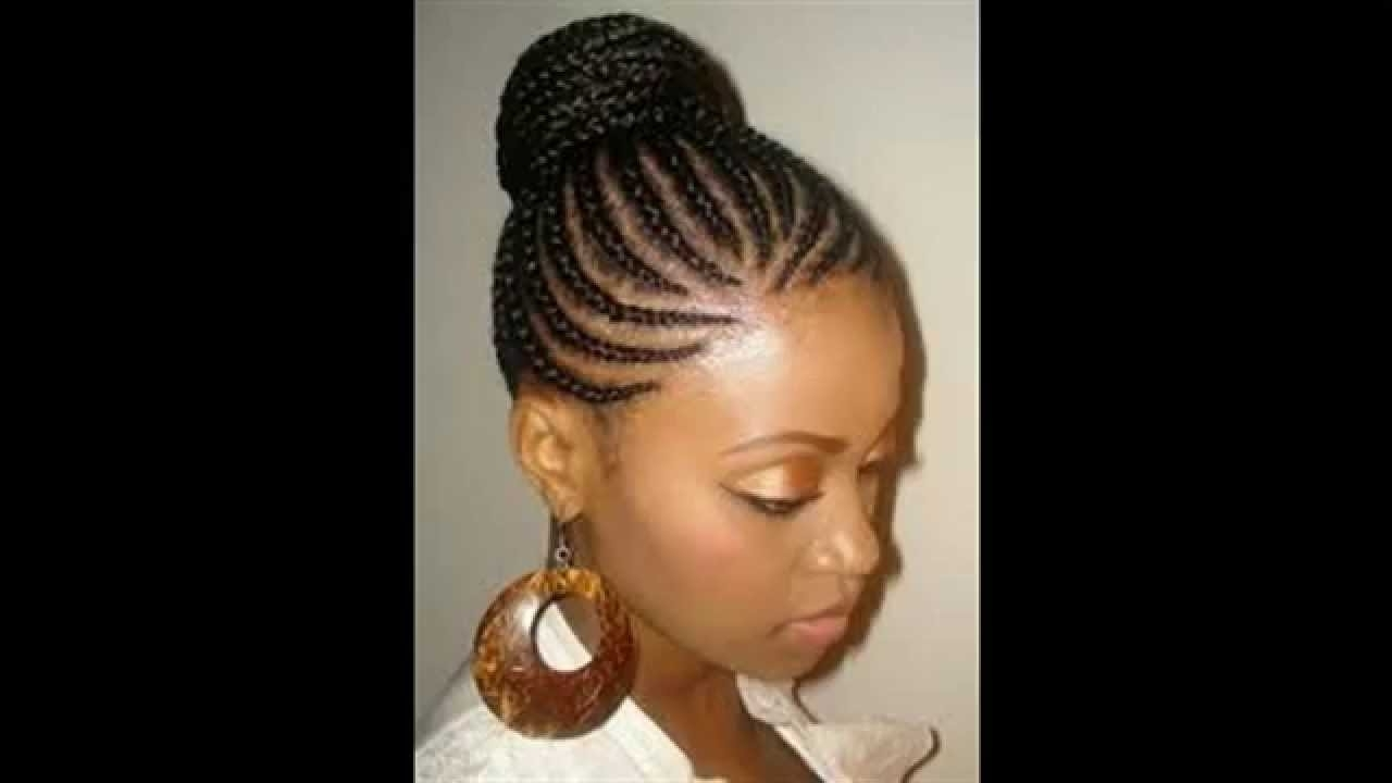 African American Wedding Hairstyles With Braids Idea – Youtube For 2017 African American Braided Bun Hairstyles (View 11 of 15)
